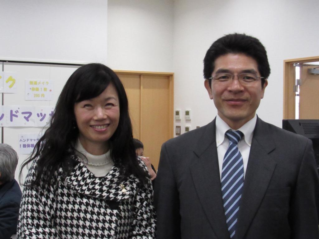 理事長の西田きょうこと監事の樋口明県議。理事長も今回の講師を務めます。